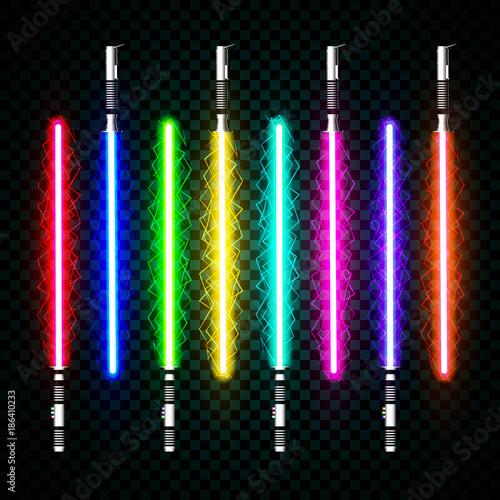 Obraz na plátně neon light swords