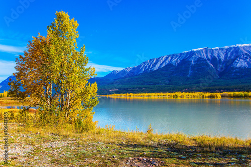 Artificial lake Abraham Canvas Print