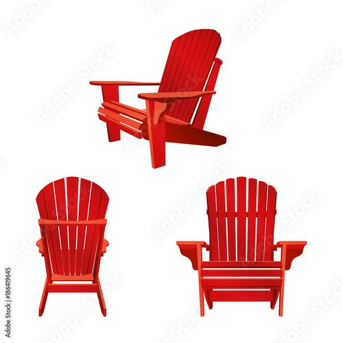 Photo Wooden garden chair, adirondack style