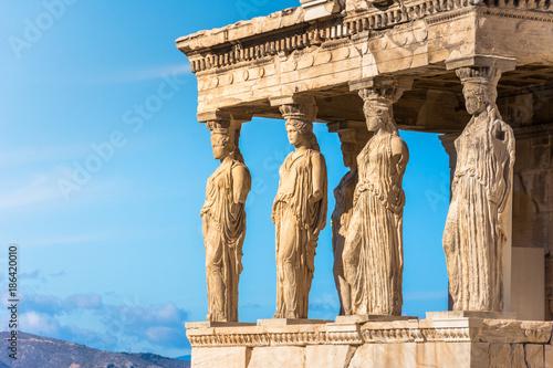 Printed kitchen splashbacks Athens Karyatides statues, Erehtheio, on the Acropolis in Athens, Greece