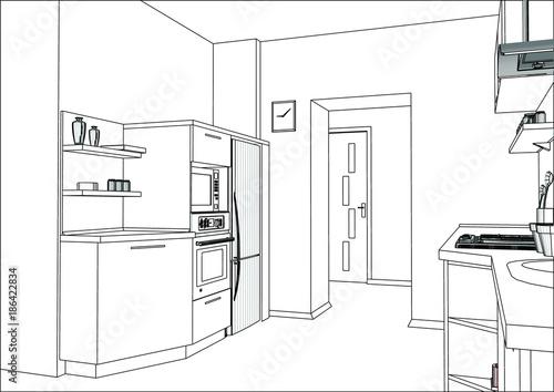 Sketch Modern Kitchen Furniture Design