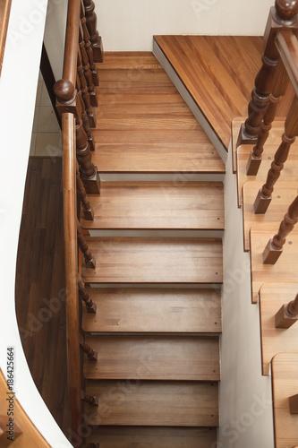 Foto op Plexiglas Trappen wooden stairs
