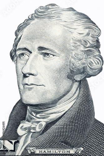 Photo Alexander Hamilton, portrait on a white background