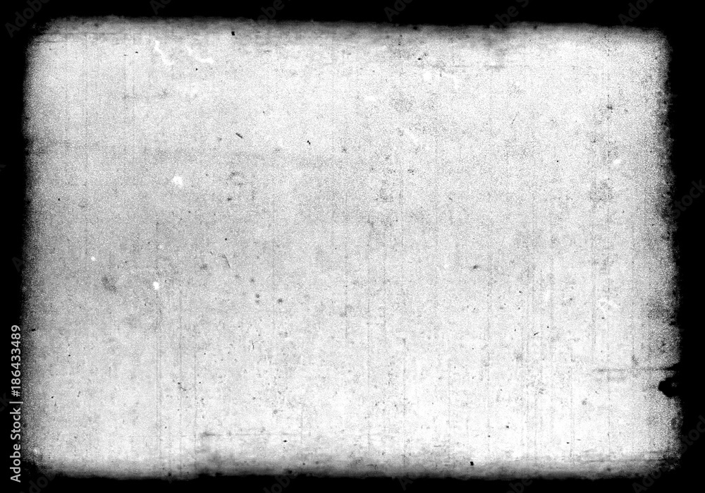 Fototapety, obrazy: Abstract dirty or aging film frame. Dust particle and dust grain texture or dirt overlay use effect for film frame with space for your text or image and vintage grunge style.