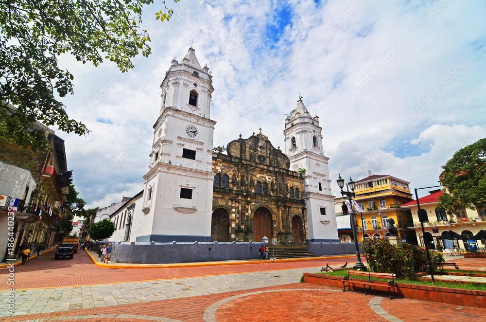 Fototapeta The Sacred Heart Cathedral at Old Panama (Panama City)
