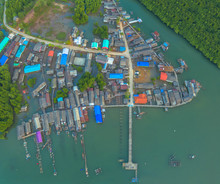 Aerial View At The Old Fishing...