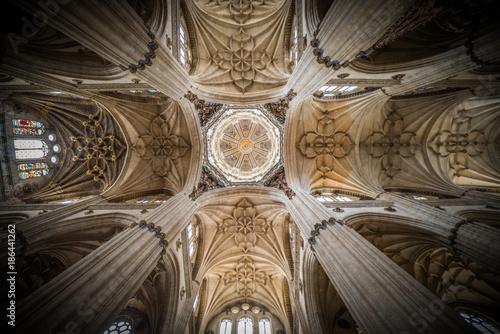 Interior de catedral en Salamanca, Castilla y León, España