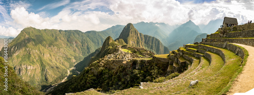 Fototapeta View of the Lost Incan City of Machu Picchu near Cusco, Peru.