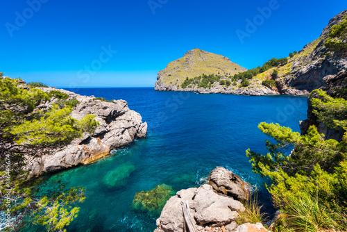 Obraz na plátně  Coastline of Port de Sa Calobra Mallorca Spain