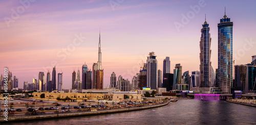 Fotobehang Midden Oosten Dubai downtown skyline