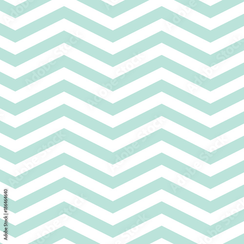 fototapeta na drzwi i meble Mint Chevron Seamless Pattern. EPS file has global colors for easy color changes.