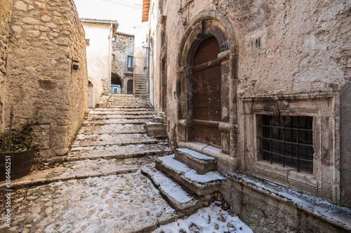 Fotografie, Obraz Santo Stefano di Sessanio, Italy - The small and charming medieval stone village