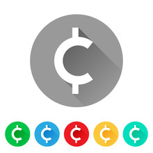 Set Of Cent Sign Icons, Curren...