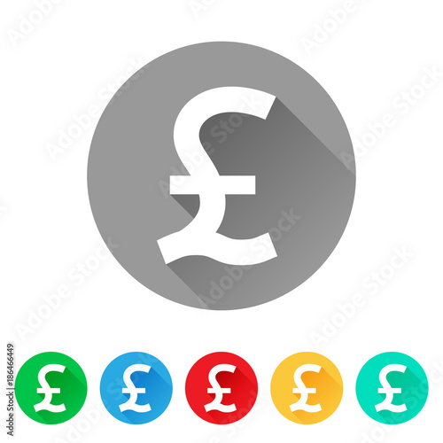 Gbp Set Of Pound Sign Icons Currency Symbol Buy This Stock