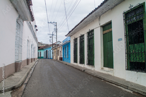 Photo  Narrow street in Sancti Spiritus, Cuba