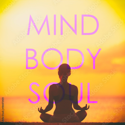 Yoga Social Media Creative Design With The Words Mind Body Soul