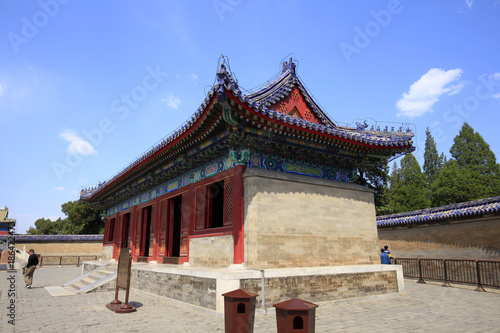 In de dag China The temple of heaven in Beijing, China