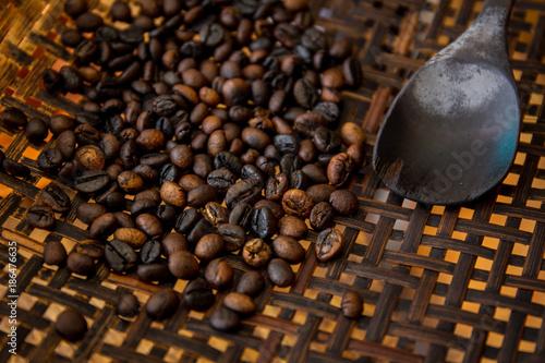 Fotografie, Obraz  Winnowing a coffee beans by using traditional winnow.