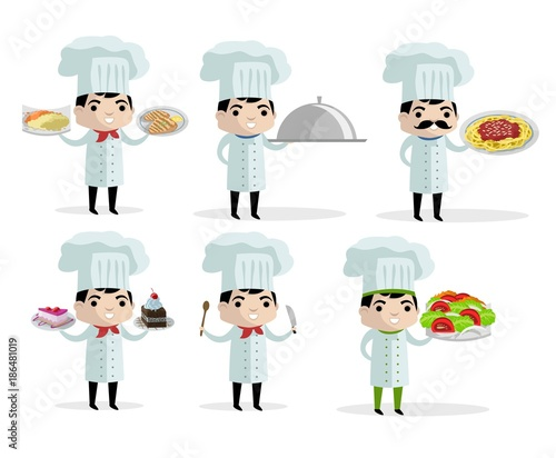 Photo  cute chef dishes