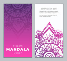 Abstract Mandala Banner Design...