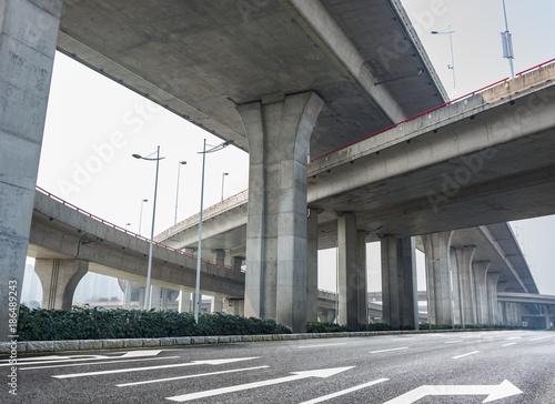 Highway overpass Canvas Print