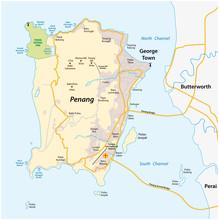 Vector Map Of Malay Island Cit...
