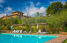 Pool At A Nice Old Villa In Tuscany, Italy