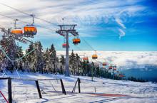 Wintersport Skiressort Mit Ski...