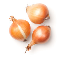Onions Isolated On White Backg...