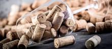 Wein Und Champagner Korken Auf...