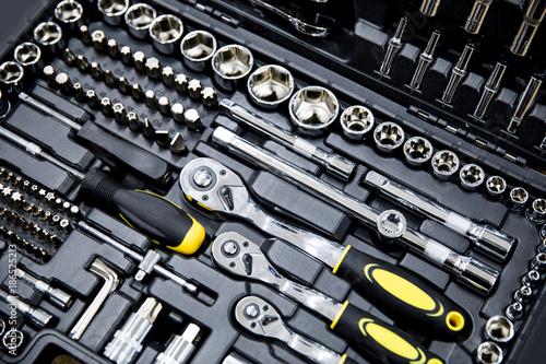 Foto mechanics tool kit in black box