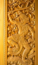 Carved Wooden Thai Tradition I...