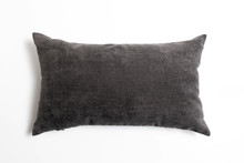 Soft Grey Pillow Isolated On White