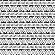 hand drawn ethnic seamless vector pattern