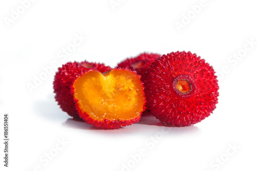 Strawberry Fruit or Madrono from the Arbutus unedo also called Strawberry Tree, Wallpaper Mural