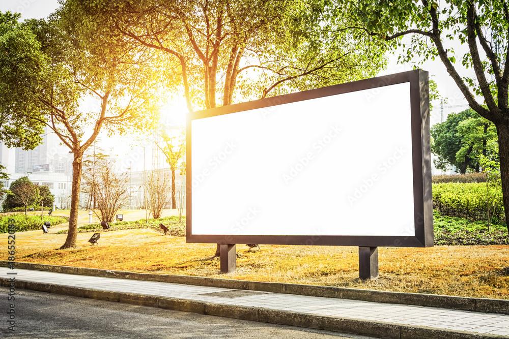 Fototapety, obrazy: Empty billboard with copy space