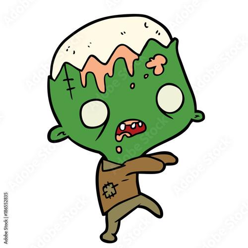 cute cartoon zombie Fototapete