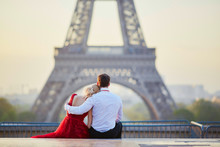 Couple Near The Eiffel Tower I...