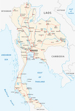 Thailand Road Vector Map