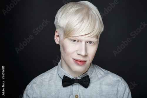 albino man white skin Wallpaper Mural