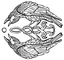 Vector Illustration Of Raven C...
