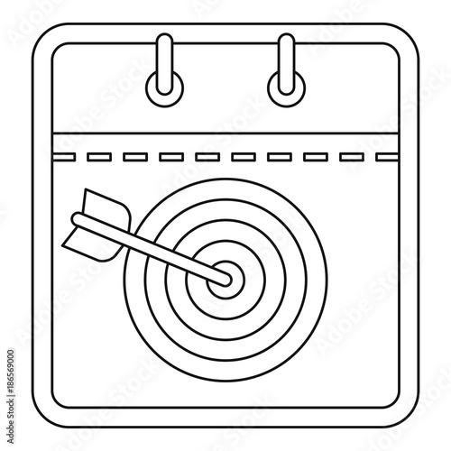 Photo  Target calendar icon