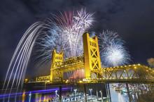 Sacramento Tower Bridge Fireworks