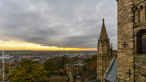 Fotografia  Lincoln South View, England - view from the Cathedral Tower