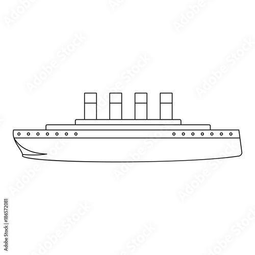Titanic icon. Outline illustration of titanic vector icon for web Wallpaper Mural