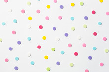 Confetti. Colorful Dots View F...