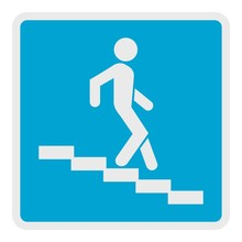 Man Descending The Stairway Ic...