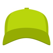 Baseball Cap In Front Icon. Fl...