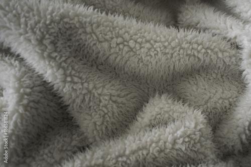 Fotografie, Obraz  Fuzzy and soft beige blanket