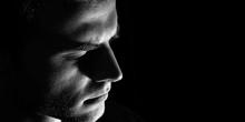 Sad Man Profile, Dark Guy  Mal...